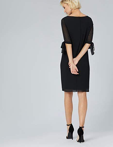 TRUTH /& FABLE Damen Midi Chiffon-Kleid mit A-Linie Marke