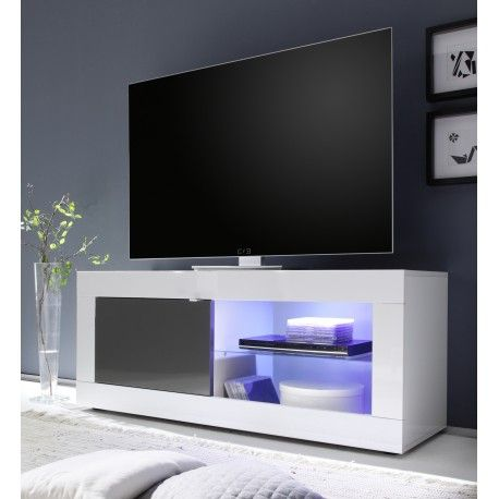 Dolcevita White And Grey Gloss Tv Stand Small Tv Unit Small Tv