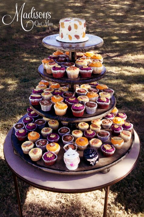 Cupcake garden for a gorgeous outdoor Fall wedding.  I loved creating these.