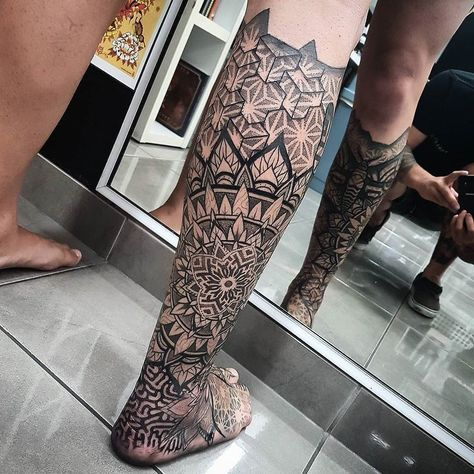 Mandala tattoo by at The Tattoo Shop in Queensland Australia