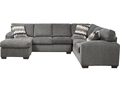 Fenella 2 Piece Left Arm Facing Sectional Smoke Large Mattress Furniture Couch With Chaise Modern Room Design