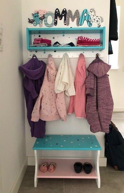 Garderobe Mit Kastchen Passende Sitzbank In Tollen Farben Mit