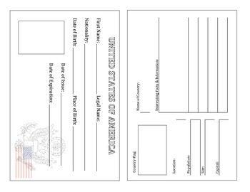 United States Passport Template Ready To Print Passport Template