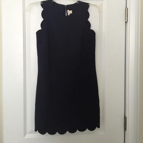 JCREW scalloped dress NAVY Worn once! J. Crew Dresses Mini