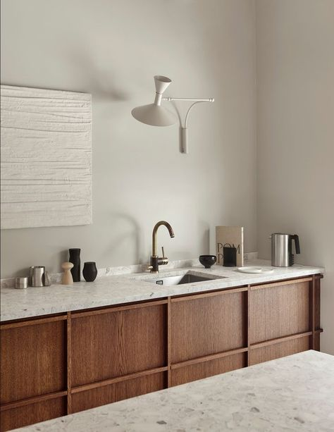 Rustic minimalism in the kitchen