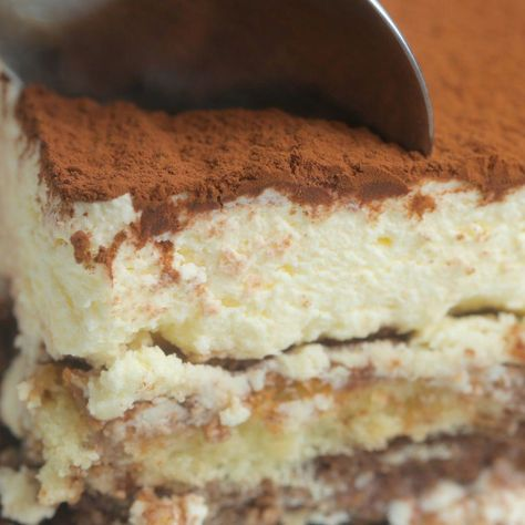 Tiramisu Poke Cake - Twisted #pokecake