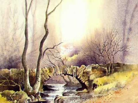 The Roadcasters - Destination Moon -- Watercolor Landscapes by David Bellamy