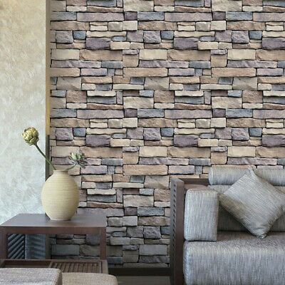 Details About 3d Stone Rock Wallpaper Background Modern Vinyl Film Sticker Self Adhesive Stack V 2020 G Naklejki Na Steny Freski Kirpich