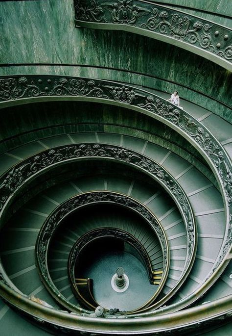 """Harry Potter Slytherin House Style Staircase {""""Vatican"""" by Olga Makeeva} Dark Green Aesthetic, Escalier Design, Slytherin Aesthetic, Loki Aesthetic, By Any Means Necessary, Hogwarts Houses, Slytherin House, Stairway To Heaven, Draco Malfoy"""