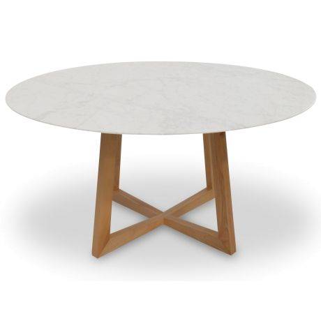 Zodiac 1 5m Round Marble Dining Table Natural Dining Table