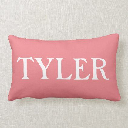 Decorative Throw Pillow Tyler Dorm Decor College Diy Cyo Personalize Room Unique Idea Salmon Colored Pillows Personalized Room Pillows
