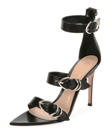 35b3b86d25 Leather Belted High Sandal | Ebony Meets Ivory | High sandals ...