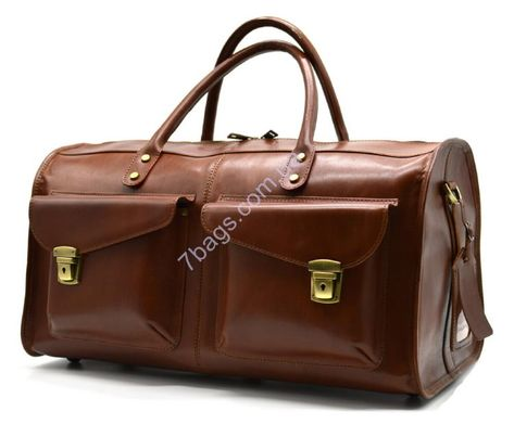 dac0a4764a16 Дорожная кожаная сумка John McDee 7b-5664B из кожи растительного дубления.  4699 грн Leather dufl bag from genuine leather (italy).