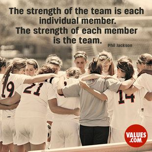 An inspiring quote about #teamwork from www.values.com #dailyquote #passiton