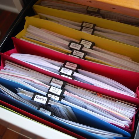 Good idea to label files with binder clips so the labels face up