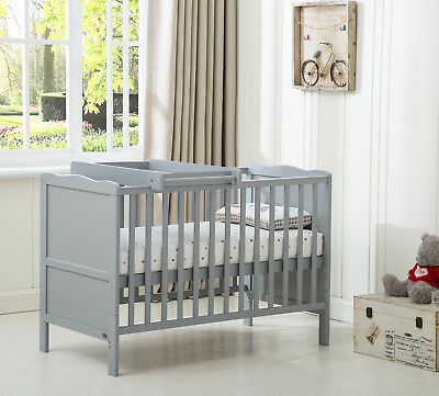 MCC® Solid Wooden Cot bed Savannah Sleigh Cotbed /& Water Repellent Mattress