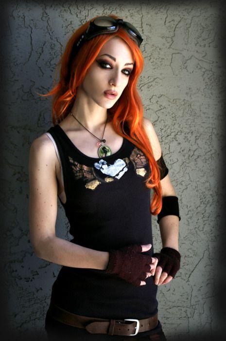 Punk redhead girl