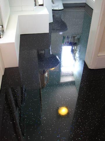 Bathroom glitter floor v cool. BLACK Sparkly Bathroom Flooring   Glitter Effect Vinyl Floor  Next