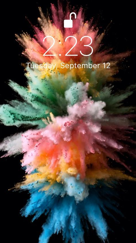 Colorful Explosion Wallpaper For Your Iphone Xs From Everpix Live