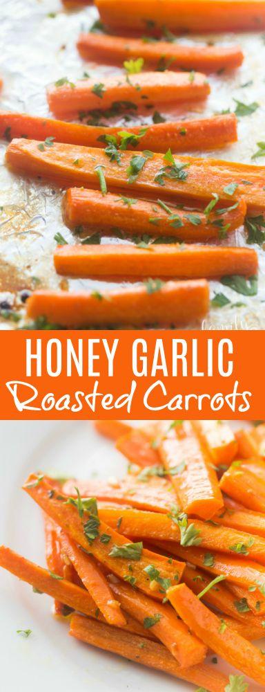 Honey Garlic Roasted Carrots Recipe #familyfreshmeals #carrots #honeygarlic #holiday #holidayrecipe #easyrecipe