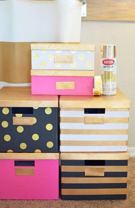 Diy Storage Boxes Closet Organization Kate Spade 43 Ideas Diy Diy Office Office Crafts Pink Home Offices