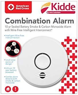 Kidde P4010acsco W 120 Volt Hardwired Combination Smoke Co Voice Alarm With Intelligent Wire Free Interconnect And 10 Year Bat Smoke Alarms Alarm Safety Lights