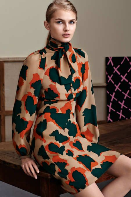 updated colors for animal prints. A refresh Gucci - Pre-Fall 2015