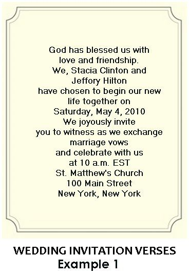 Country Invitation Wording Samples Christian Wedding Invitation
