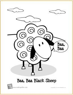 Baa Baa Black Sheep Free Printable Coloring Page Makingartfun