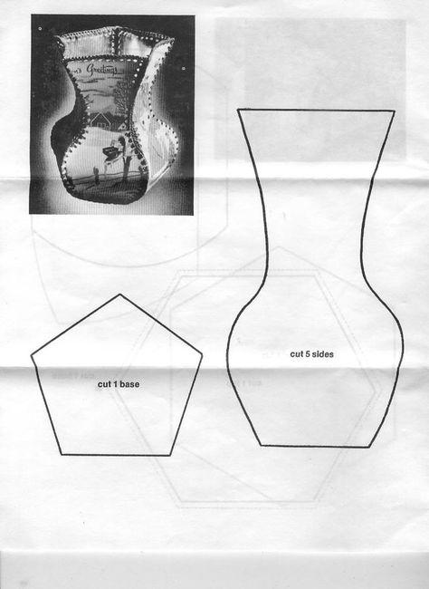 Поделки из открыток своими руками схема