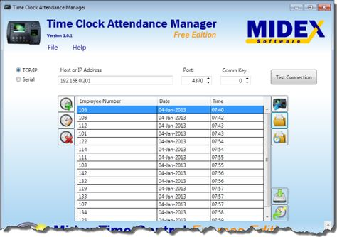 Time Clock Attendance Manager is a free Time Clock software - download attendance sheet