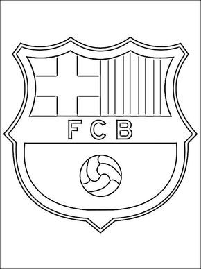 soccer coloring pages coloring page with logo of barcelona football club free printable soccer birthday barcelona soccer barcelona cake soccer coloring pages coloring page