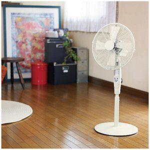 ピエリア リビング扇風機 レトロリビングファン メタル製 リモコン式 30cm ホワイト Rir 350 Wh リビング ファン リビング 扇風機 扇風機