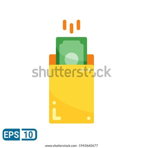 Envelope Money Icon Flat Style Isolated Stock Vector (Royalty Free) 1943660677