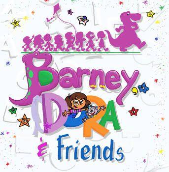 Barney, Dora and Friends Season 3 title[REDRAW] by