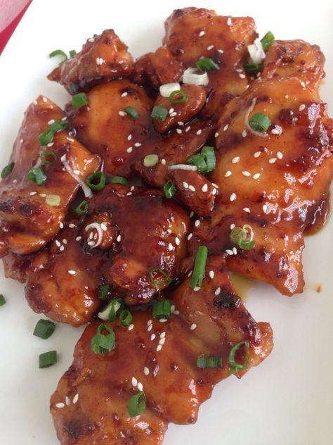 Sweet and sticky chicken | Mooie recepten