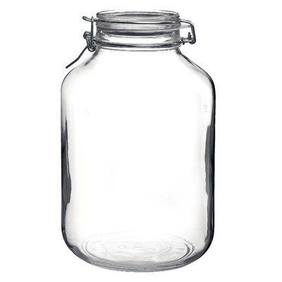 Bormioli Rocco Fido Round Clear Jar 169 Ounce By Bormioli Rocco Glass Co Inc 9 99 The Absence Of Lead Guarantees 100 Percent Recyclable Pr Wine Bottle Diy