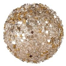 Christbaumkugeln Rosegold.Michael S Gold Colored Glitter Ball By Ashland 14 Home