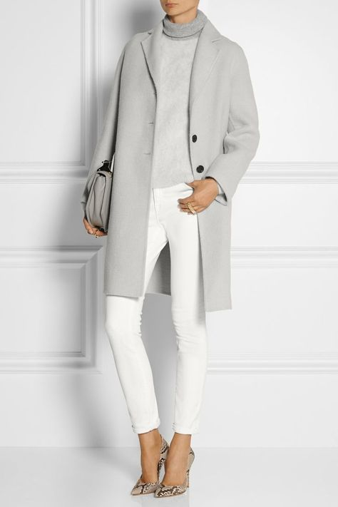 What to Wear to Office or Business Attire Ideas from Your Wardrobe MARC JACOBS Alpaca and wool blend coat Source by