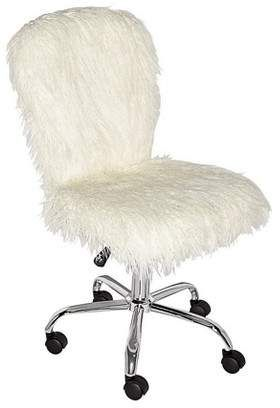 outlet store 45042 1f50b Faux Flokati Armless Office Chair White - Linon   Products ...