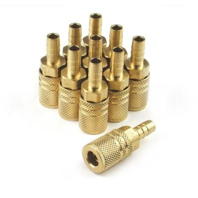 Extreme Performance 1 4 In X 3 8 In Brass Standard Hose Barb Industrial M Style 6 Ball Coupler 10 Pack Xic1438bb6 B10 P In 2020 Brass Place Card Holders Air Tools