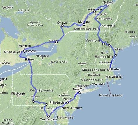 Usa Rundreise Ostkuste Route Und Reiseverlauf Der Schonen