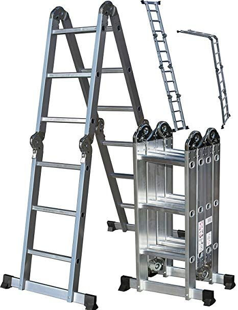Oxgord Aluminum Folding Scaffold Work Ladder Multi Purpose Ladder Ladder Aluminium Ladder