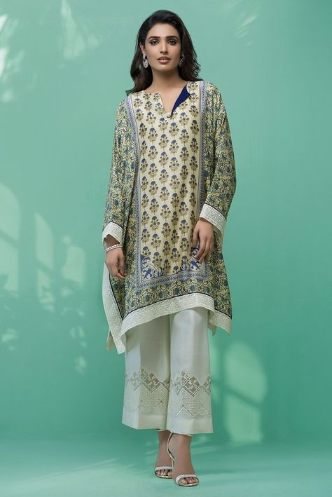 Show details for Cotton net digitally printed poncho
