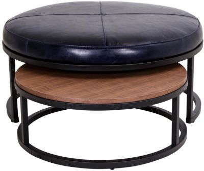 Excellent Jonathan Louis Carson 100 Leather Nesting Ottoman In 2019 Alphanode Cool Chair Designs And Ideas Alphanodeonline