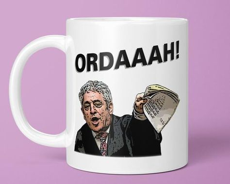 Ordaah! - Best of John Bercow Gift Mug (House of Commons Speaker Meme, Orderrr Meme Gifts, Funny Order Mug, Political Gift Ideas) BB139