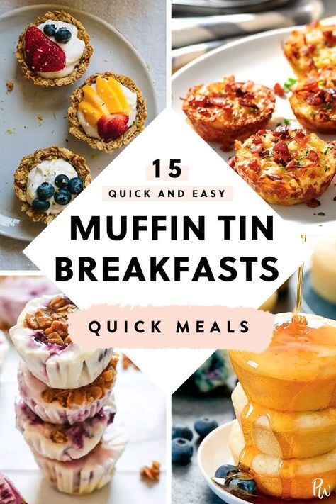 15 Quick and Easy Muffin Tin Breakfasts #muffintin #recipes #food #breakfast #purewow #muffintinrecipeshealthy
