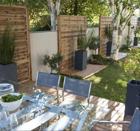 Epingle Par Sandrine Simon Sur Jardin En 2020 Avec Images Terrasse Bois Dalle Bois Habillage Mur Exterieur