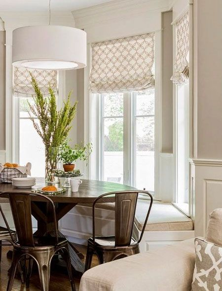 In A Small Dining Room Or Eat In Kitchen A Bay Window Is A Perfect Place To Set Up A Seating Area B Window Seat Kitchen Bay Window Benches Kitchen Bay Window