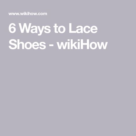 41f5243d3684 Cool ways to lace your shoes!